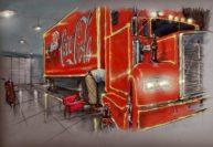 Coke Truck by Bill Garland