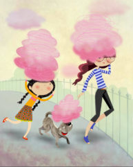 Candyfloss Clouds by Luella Wright