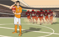 Smokey Bones soccer artwork by Jon Rogers