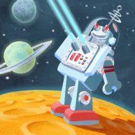 Robot by Mandy Millie Flockton