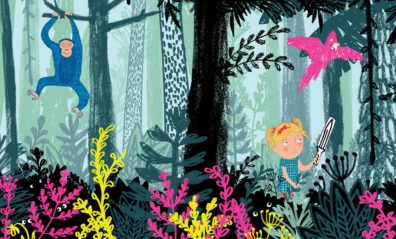Jungle from What Became of the Red Shoes by Hannah Lewis