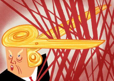 Trump Scissors by Satoshi Kambayashi