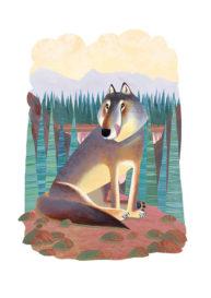Wolf by Mandy Millie Flockton
