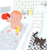 Alfie in the Bath by Hannah Lewis