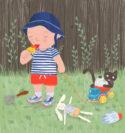 Alfie in the Garden by Hannah Lewis