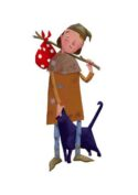 Boy and Cat by Mandy Millie Flockton