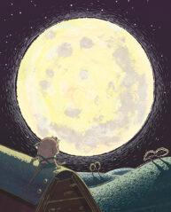 Moustronaut Back Cover by Mandy Millie Flockton