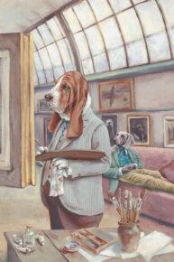 Dorian Greyhound Pastiche by Mandy Millie Flockton