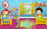 Peg and Pog Bedroom by Luella Wright