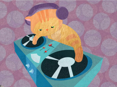 DJ Cat by Luella Wright