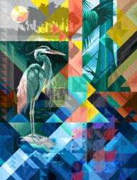 Heron by Garth Glazier