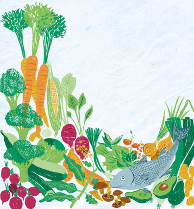 Veg and Fish by Chris Stonehill