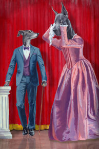 Dorian Greyhound by Mandy Millie Flockton