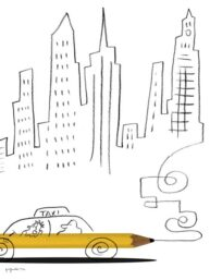 New York Taxi by Satoshi Kambayashi