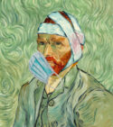 Van Gogh Face Mask by Pastiche