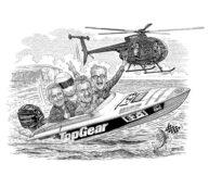 Eddie Jordan Top Gear by Dave Hopkins