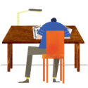 Lee Ford at Desk by Lee Ford