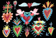 Mexican Hearts by Jennie Maizels