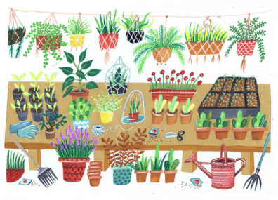 Potting Shed by Jennie Maizels