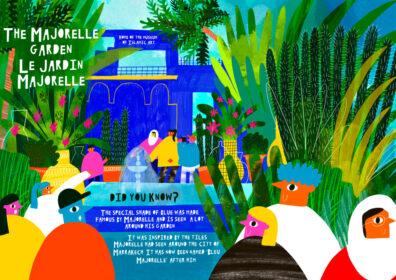 Majorelle Garden by Beatrice Simpkiss
